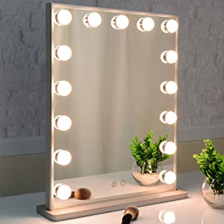 Best wooden makeup mirror with lights Reviews