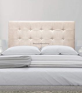 cabeceros de Camas Oslo cabeceros tapizados de Madera cabecero Acolchado cabecero Polipiel Blanco cabeceros para Dormitorio cabecero de Cama (Beige, 135 * 70)