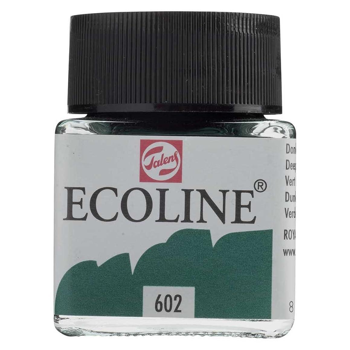 Royal Talens Ecoline Liquid Watercolor, 30ml Bottle, Deep Green (11256020)