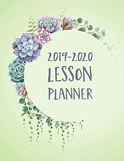 2019-2020 Teacher Lesson Planner: Mint Green Succulent Floral (Teacher Lesson Planners)
