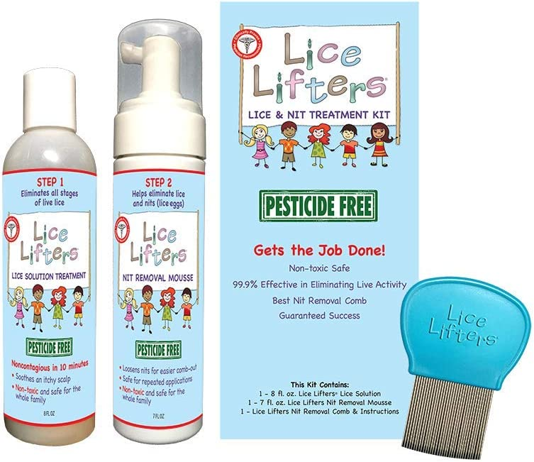 Lice Lifters and Nit Treatment Non Pesticide Toxic latest Free Attention brand Kit