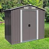 Kinbor 6' X 4' Storage Shed, Backyard Shed, Steel Utility Tool Storage For Backyard Garden Lawn Equipment With Door