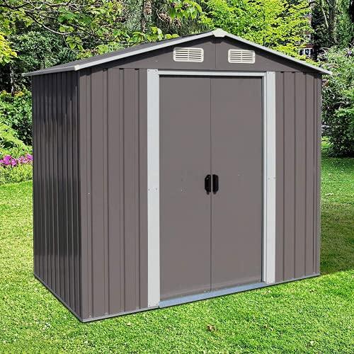 Kinbor 6' x 4' Storage Shed, Backyard Shed, Steel...