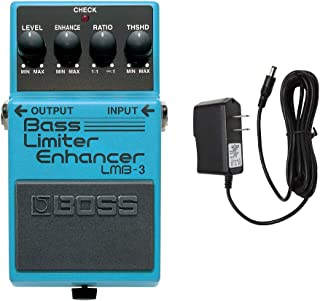 BOSS LMB-3 Bass Limiter Enhancer with PigHog PP9V Pig Power 9V DC 1000ma Power Supply