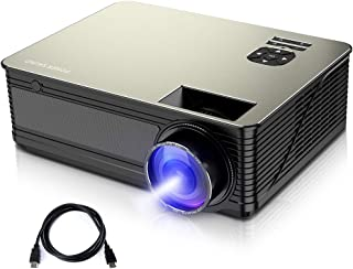 PONER SAUND M5 Business Projector, Native 720P 3800 Lumens Home Theater Projector with 50000 hrs LED Lamp Life, Movie Projector 200