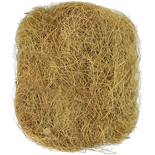SunGrow 1.5 oz. Coconut Fiber, Comfortable Bedding for Small Birds and Animals, Nest Lining...