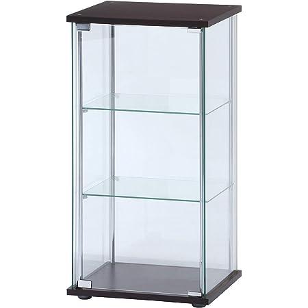 不二貿易 コレクションケース フィギュアケース 3段 高さ90cm 全面ガラス 96049