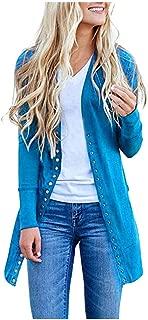 ★ Futurelove ★ ⭐ Women's Coat,Women's S-2XL Solid Button Front Knitwears Long Sleeve Casual Cardigans