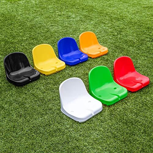 FORZA Asientos de Estadio de Plástico | Asientos HDPE para Banquillo de Jugadores (Blanco, Pack de 1)