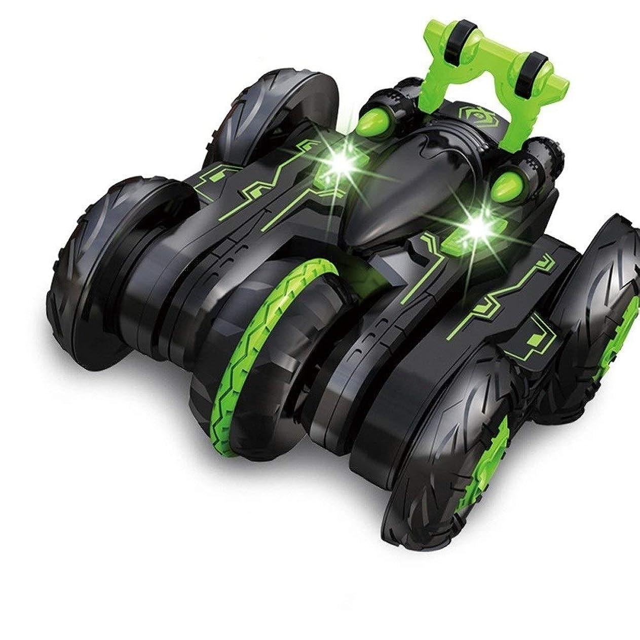 誘惑する存在するエンドウAIOJY 2.4G 6チャンネル変形スタントカー子供のリモートコントロール玩具ホビーRC車キッズ誕生日クリスマスのギフトライトローリング回転RCカー