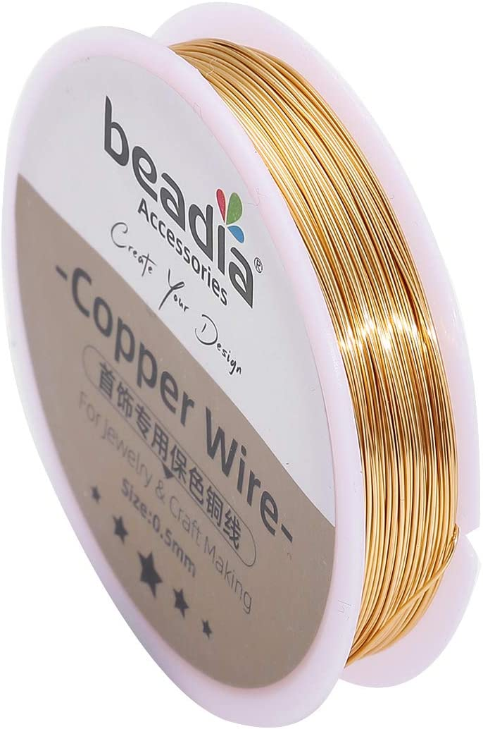 BEADIA OFFicial mail order KC Gold Copper Wire 0.5mm Necklace Bead Cheap mail order sales Cord Bracelet for