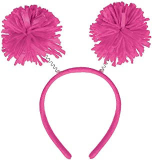 Basic Wig Costume Accessories for Adults, Include a Bob Wig, a Pom-Pom Head Bopper, and Knee-High Socks