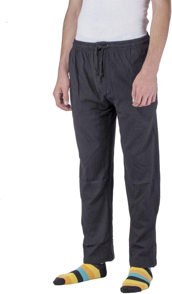 CocaCola Mens Cotton Sleepwear Pajama Pants Elastic Waistband and Side Pockets