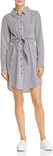 Sanctuary Womens Tie-Front Striped Shirtdress