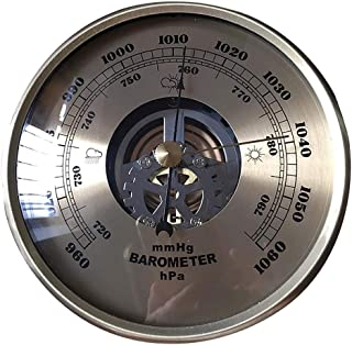 KESOTO Wall Mounted Barometer 4.25inch Round Dial Air Weather Station 960~1060hPa