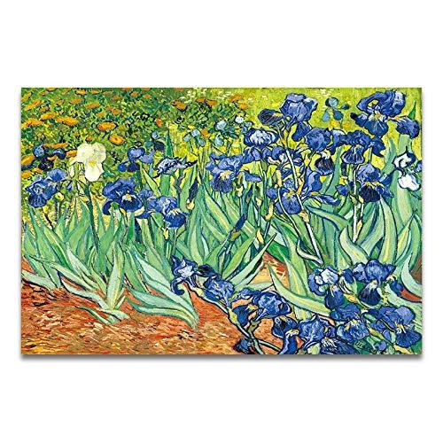Pintura al óleo famosa del artista, cartel impreso de la pintura del paisaje del amanecer del iris del cielo estrellado, pintura de la lona sin marco A5 15x20cm