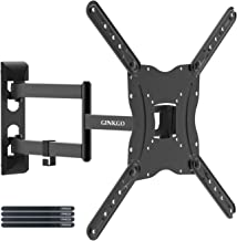 GINKGO TV Wall Mount Bracket for Most 26-55 Inch LED, LCD, OLED Plasma Flat Screen Monitor up to 77 lbs VESA 400x400, Low Profile Full Motion Titl RV TV Mount with Swivel Articulating Extension Arm