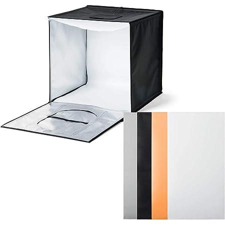 サンワダイレクト 撮影ボックス 50cm 折りたたみ ライト付き 4色背景 6000ルーメン 200-DG015