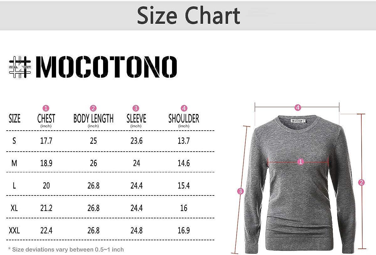MOCOTONO Women's Long Sleeve Pullover Crewneck Sweater