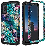 ZHK Compatible with Samsung Galaxy A02 Case, 3 Layer Luminous Heavy Duty Shockproof Hard PC+Silicone Rubber Hybrid Sturdy Full-Body Protective Case for Samsung Galaxy A02 2021 Release