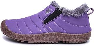 Xindiqiu Bottes de Neige Hiver pour Femmes et Hommes Bottes Imperméables Chaussures de Marche Antidérapantes Doublées de F...