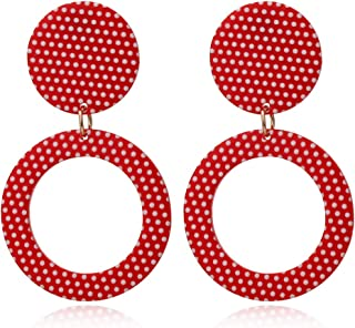 Acrylic Earrings for Women Girls Statement Geometric Earrings Resin Acetate Drop Dangle Earrings Polka Dot Earrings Fashion Jewelry