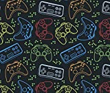 Video Game Gift Wrap Gamer Present Wrapping Paper 30 x 20 Inch (3 Sheets)