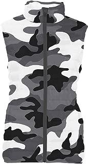 Rainbow Rules Dark Camouflage Womens Puffer Vest Bodywarmer Gilet