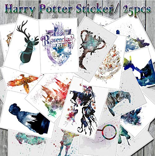 YLGG Harry Potter Graffiti Aufkleber Für Skateboard Koffer Kühlschrank Computer, PVC Wasserdicht Spielzeug Aufkleber 25St