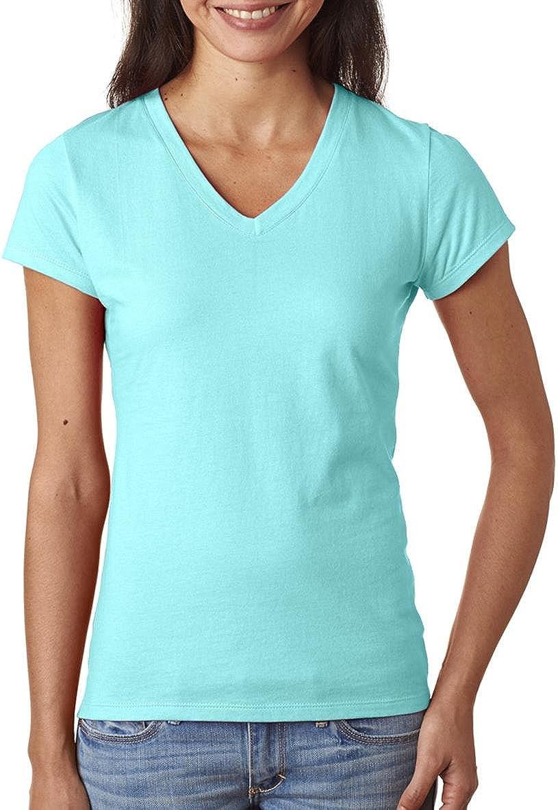 Fruit of the Loom - Ladies SofSpun Jersey V-Neck T-Shirt - SFJVR