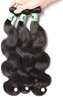 Msbeauty 10A Peruvian Hair 3 Bundles Body Wave Virgin Human Hair Weave 14 16 18 inch 300g/lot Natural Color Tangle-free