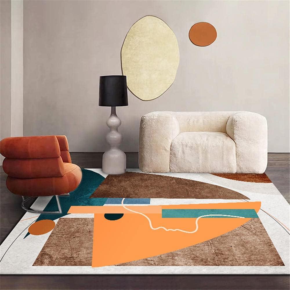 alfombras Pelo Corto Salon Alfombra Amarilla de la Alfombra de té Almohadilla de Asiento de Oficina antibacteriana en la Alfombra Transpirable Alfombra Juegos -Amarillo_50x80cm