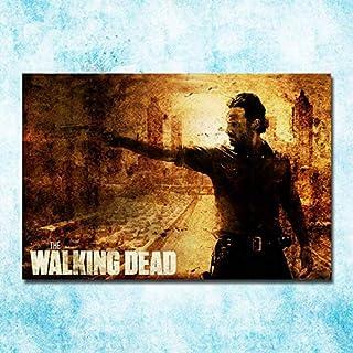 The Walking Dead Temporada 1 a 7 Impresión de póster en lienzo de seda de arte 13x20 pulgadas Decoración de pared de imagen 50x75cm