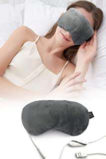 Heated Eye Mask, USB Steam Warm Compress for Puffy Eyes and Dry Eye, Stimulate The Circulation of Blood, Comfortable Sleep...