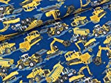 Hemmers Baumwolljersey Bagger gelb auf Jeansblau
