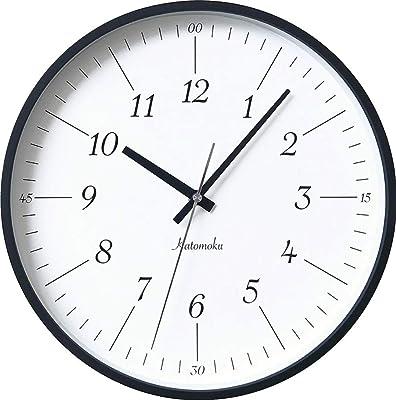 KATOMOKU plywood clock 18 km-110BRC ブラック 電波時計 連続秒針 φ304mm