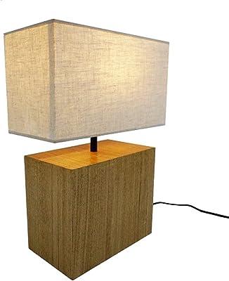 ESTO Leuchten Wanda - Lámpara de mesa de madera: Amazon.es ...