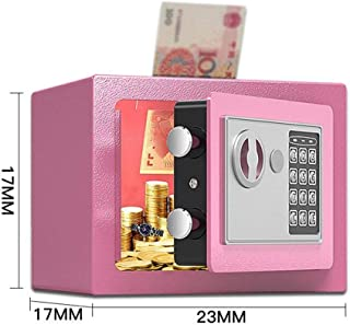 MUMA Medium Digital Safe Electronic Security Steel Cash Box Wall Or Floor Mounted For Jewelry Money Document For Home Office Hotel Color : Pink, Size : 312020cm