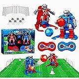 TEEKOO RC Fußballroboter für Kinder eingestellt, 2.4G Roboter-Fußball-wettbewerbsfähiges Eltern-Kind-Interaktionsspielzeug mit Fernbedienung