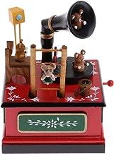 DYNWAVE Brinquedos Caixa de Música Decoração de Natal Coelhos Bear C/Música Kids Wind Up
