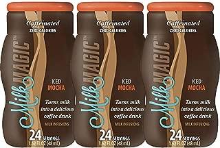 Milk Magic, Liquid Milk Infusions Flavor Enhancer, 3 pack - 1.62oz each, Iced Caffe' Mocha