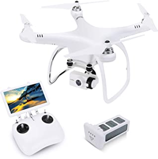 FPV RC Drone with 4K Ultra HD Camera Live Video, UPAIR One 4K Quadcopter 110° Wide-Angle Monitor Control with GPS Retrun, Altitude Hold, Headless Mode, Color Black