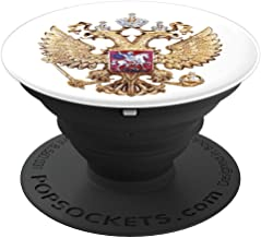 Proud Soviet Russia Arms Of Coat Russian Emblem Flag Gift - PopSockets Grip and Stand for Phones and Tablets