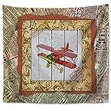 JokerDmask Tapisserie Murale Ou Drap De Plage Wall Hanging Sheet Bedspread Décoration pour Salon Ou Chambre Cadre Photo Vintage, Décoration d'avion