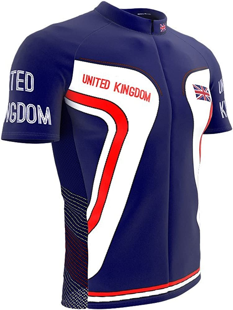 5% OFF Dealing full price reduction United Kingdom Full Zipper Bike Jersey Cycling for Short Sleeve