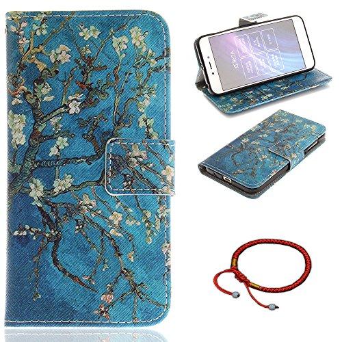 GOCDLJ Funda para Xiaomi Redmi 5A PU Caso de Flip Xiaomi Redmi 5A Carcasa Ultra Delgado Case Teléfono Inteligente Caso, Purse Pouch Ultraligero Cover Diseño Azul Albaricoque