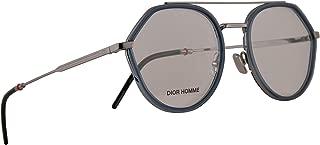Christian Dior Homme Dior0219 Eyeglasses 52-19-150 Blue Ruthenium w/Demo Clear Lens DTY 0219