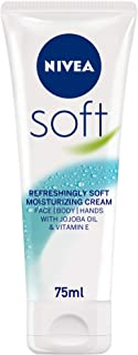 NIVEA Soft Moisturizing Cream, Refreshingly Soft, Tube 75ml