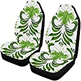 Green Folk Car Seat Cover Front Frontts Only Full Set of 2, Universal Fit for Vehicles Sedan 14-17 in