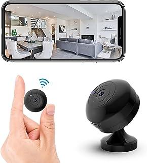 FECOMI Mini Spy Camera WiFi Hidden Cam 1080P Small Portable Wireless Nanny Cam w/Auto Night Vision/Motion Activated Alarm...
